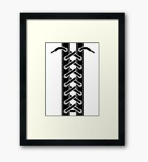 Corset lacing Framed Print