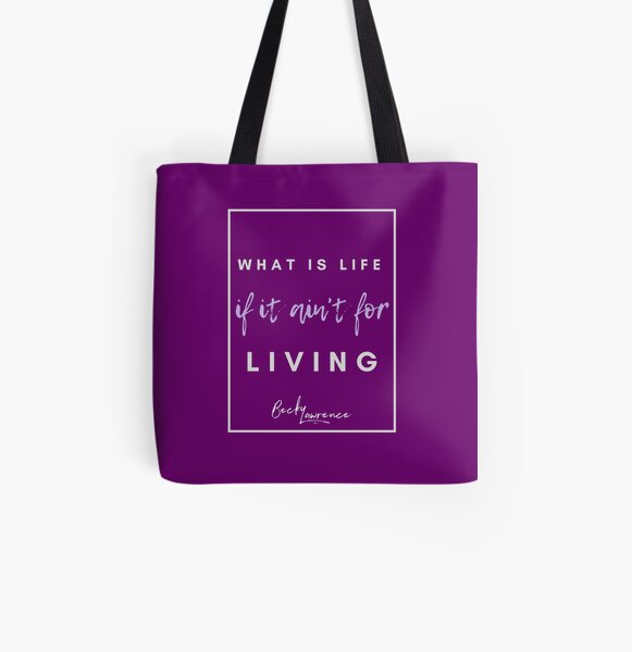 What Is Life - Lyrics Design 4 All Over Print Tote Bag