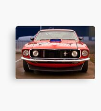 Mustang front Canvas Print