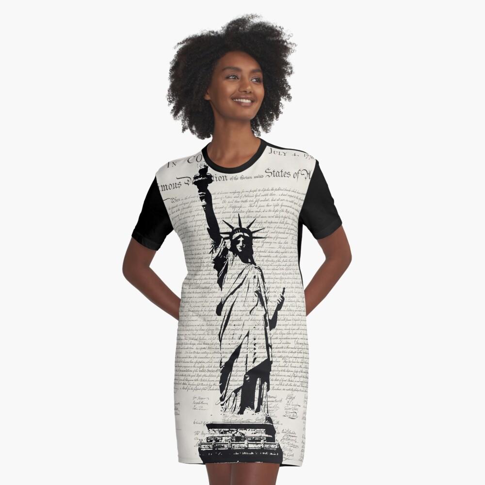 United We Stand Graphic T-Shirt Dress