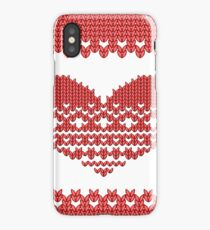 Red Knitted Look Love Heart  iPhone Case/Skin