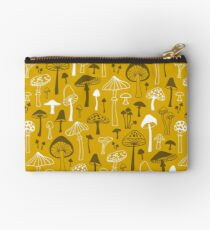 Mushrooms in Yellow Studio Pouch
