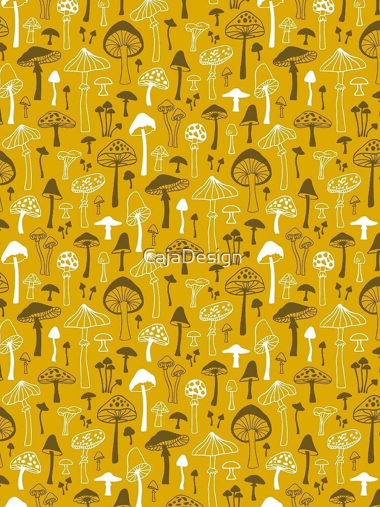 Pilze in Gelb von CajaDesign