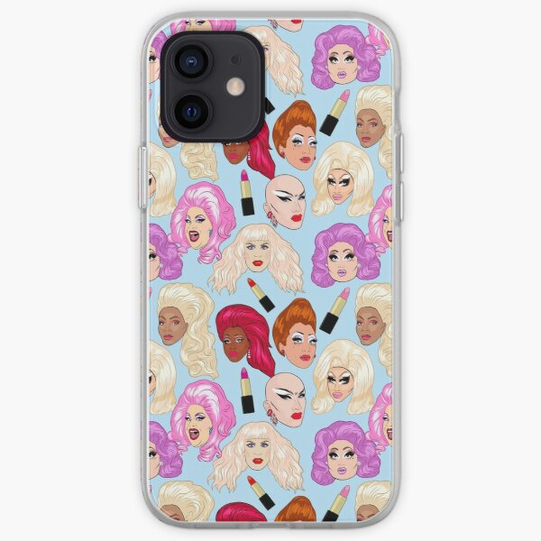 Drag Queens - blue iPhone Soft Case