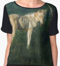 Little Blue-Eyed Filly Women's Chiffon Top