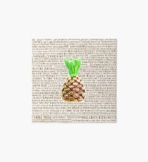 Psych Burton Guster Nicknames - Television Show Pineapple Room Decorative TV Pop Culture Humor Lime Neon Brown Art Board