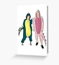 dino onesies Greeting Card