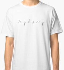 Mountains, guitar, wave love Classic T-Shirt