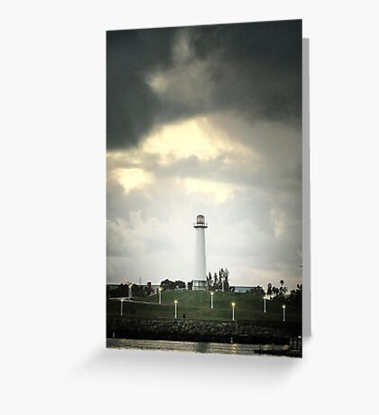 Lions Lighthouse Greeting Card