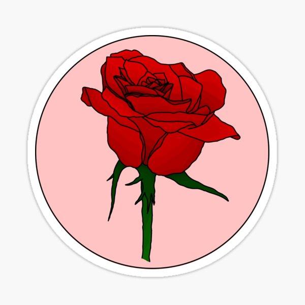 Retro Rose Sticker