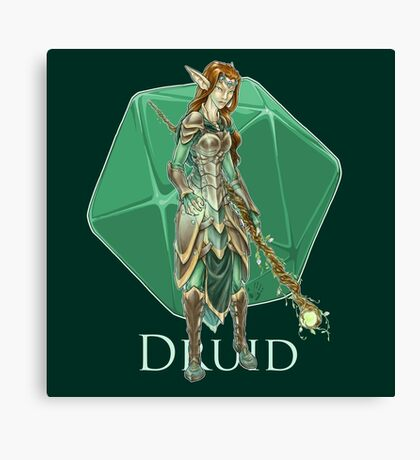 Dungeons and Dragons Druid Canvas Print
