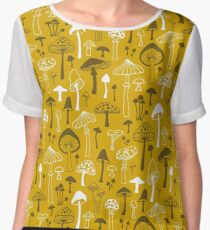 Mushrooms in Yellow Chiffon Top