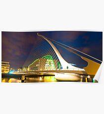 Samuel Beckett Bridge, Dublin Poster