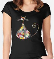 COLORFUL  CAT Women's Fitted Scoop T-Shirt