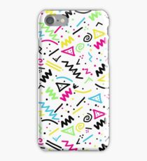Retro 80's 90's Neon Pink Green Blue Yellow Doodle iPhone Case/Skin