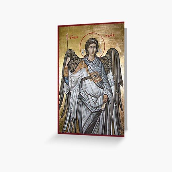Archangel Michael - Eastern Orthodox icon Greeting Card