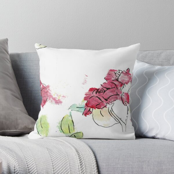 Romantic Roses Throw Pillow