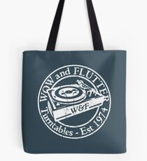Wow & Flutter Turntables T-Shirt & Bags - Worn Well Tote Bag