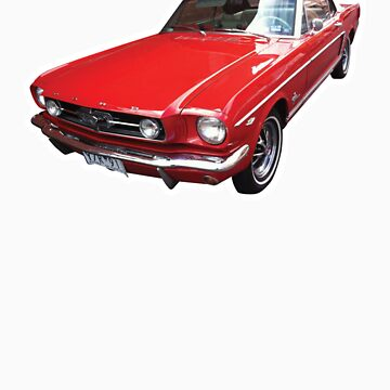 Red Ford Mustang Convertible by synthmax