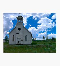Old Church Under Colorado Skies Photographic Print