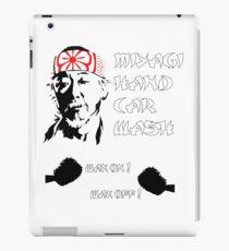 Miyagi's hand wax iPad Case/Skin
