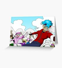 Raiden Legacy - Snowball Fight Greeting Card