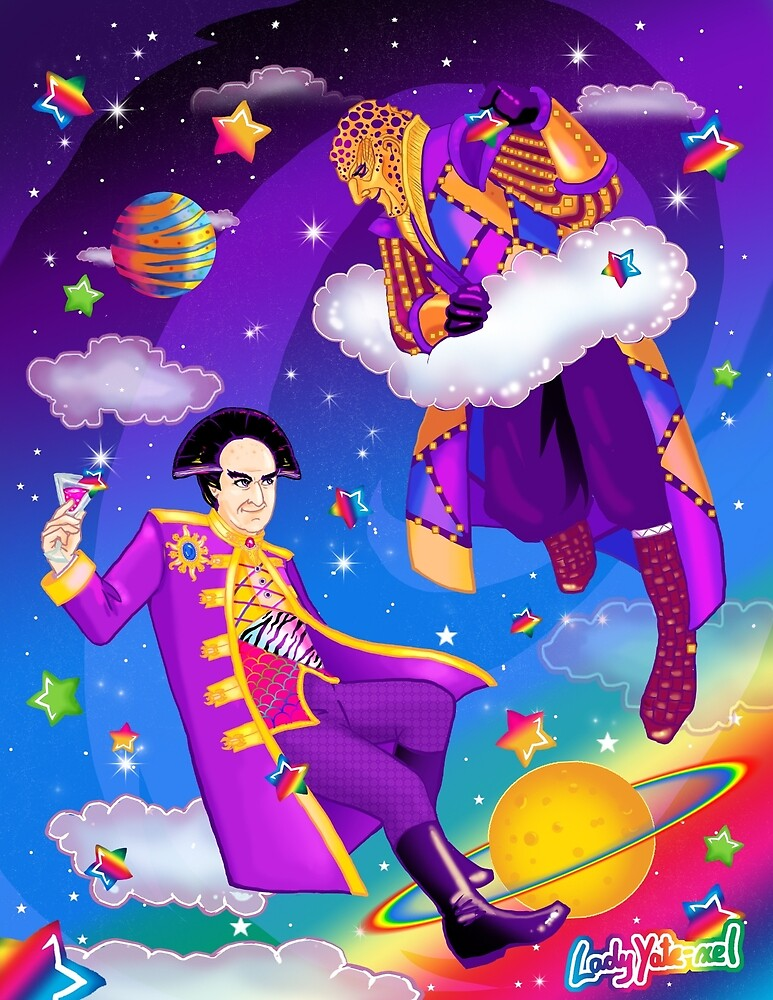 Lisa Frank Babylon 5 Londo Mollari and G'Kar  by ladyyatexel