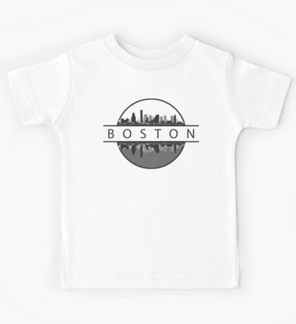 Boston Massachusetts Skyline Kids Clothes