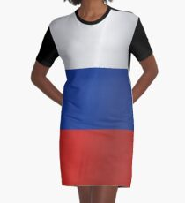 Russia flag Graphic T-Shirt Dress