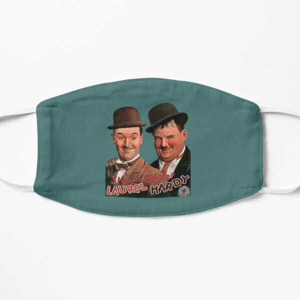 STAN & OLIVER. Laurel and Hardy. Movie Poster. Flat Mask