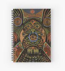 Big Bronze Owl Spiral Notebook