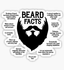 Beard Facts (black) Sticker