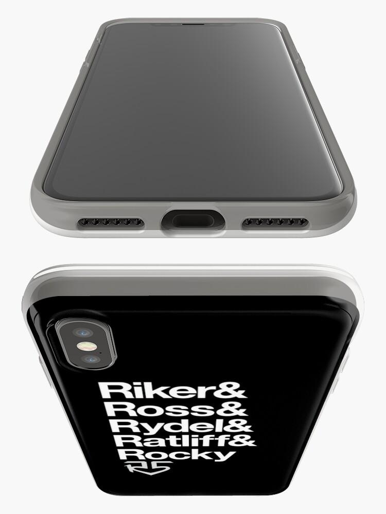 Alternative Ansicht von R5 Namen (schwarz und weiß) iPhone-Hülle & Cover