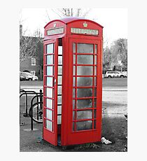 Old phonebox Photographic Print