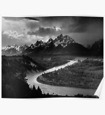 Ansel Adams - Grand Tetons and Snake River Poster