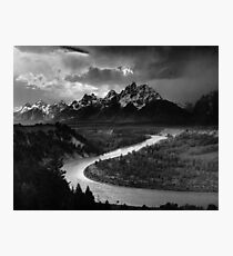 Ansel Adams - Grand Tetons and Snake River Photographic Print