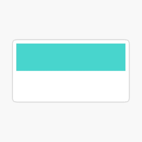 Teal and White Stripes Pattern Sticker