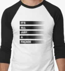 It's All Just A Façade (Faded) Men's Baseball ¾ T-Shirt