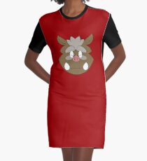 Vii Rii Headshot Graphic T-Shirt Dress