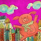 Happy Pig by catru
