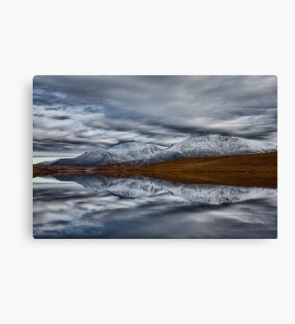Scottish Mountain Reflections in Winter Canvas Print