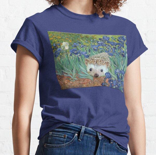 """Vincent van Hog's """"Irises and Also a Hedgehog"""" Classic T-Shirt"""