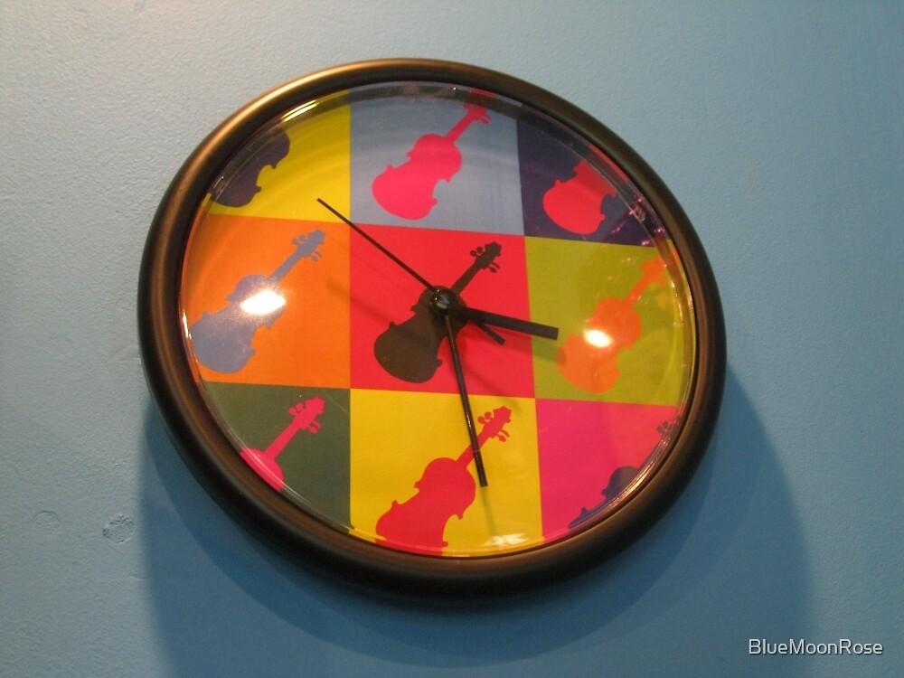 Funky Guitar Clock by BlueMoonRose