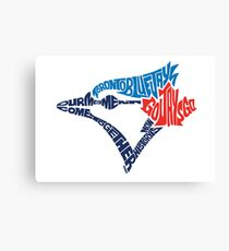 Toronto Blue Jays (Blue) Canvas Print