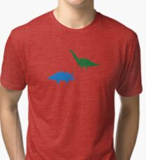 Dinosaur Origami Tri-blend T-Shirt