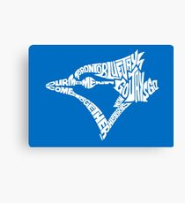 Toronto Blue Jays (white) Canvas Print