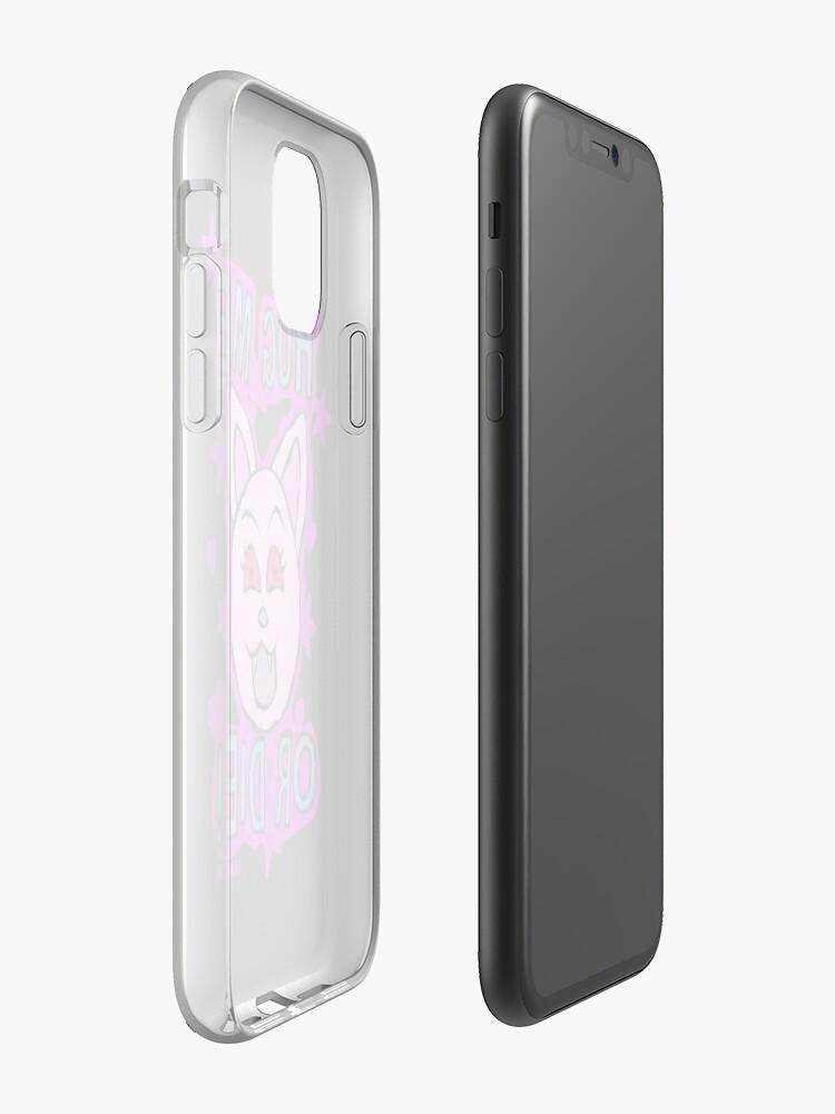 Alternate view of Hug Me Or Die iPhone Case & Cover