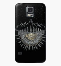 Moon and Stars Night Sky Mountain Range Arrow Mandala Case/Skin for Samsung Galaxy