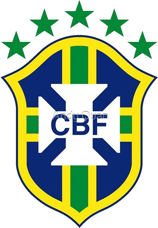 brazil soccer logo stickers by andy quan redbubble