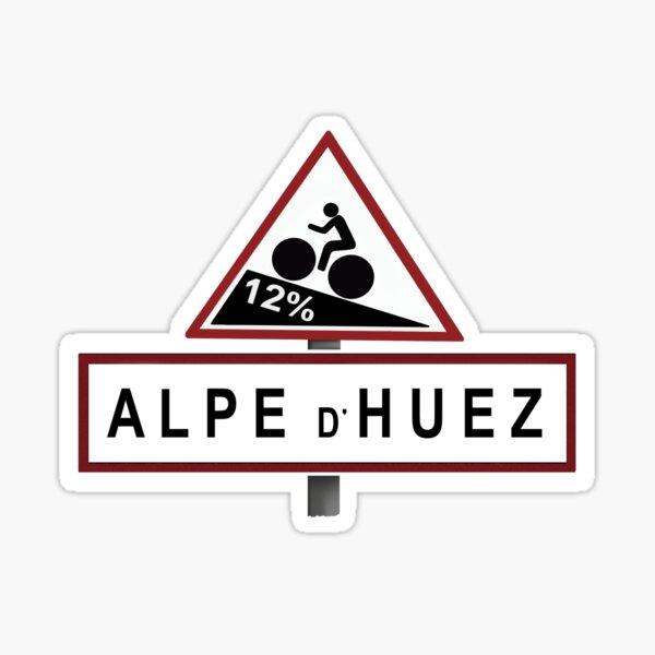 Panneau de signalisation de l'Alpe d'Huez Sticker